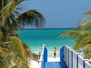 Blick vom Seminar-Hotel auf den Strand